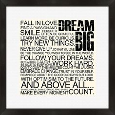 Perfect as a delightful focal point or in an eye-catching vignette, this charming typographic print brings an inspirational message to your walls. Place it i...
