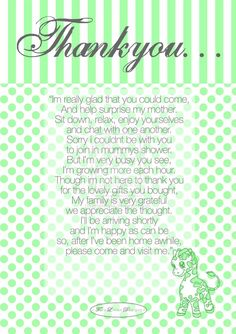 Baby Shower Thankyou by ~grombolia on deviantART