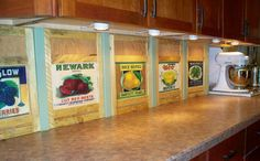 Kitchen countertop - fronts for appliance garages are custom flip-up and slide back doors. Appliance Garage, Bartlett Pears, Appliance Covers, Red Beets, Garages, Kitchen Countertops, Appetizer Recipes, Appetizers, Kitchen Storage