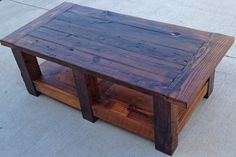 Oiled Pine with Beam Legs, Coffee Table.