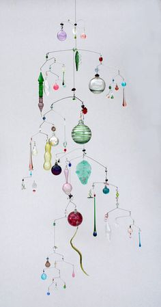 For Sale on - Mobile of Rainbow Lights, Stainless Steel, Glass by Julia Condon. Clay Crafts, Diy And Crafts, Arts And Crafts, Suncatchers, Mobiles Art, Mobile Sculpture, Hanging Mobile, Mobile Mobile, Kinetic Art