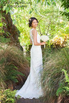 Bride in the gardens of The Bingham