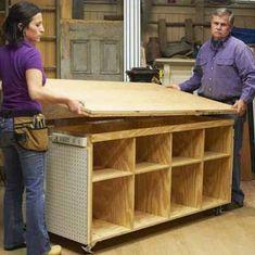Fabrica un banco de trabajo para bricolaje y manualidades