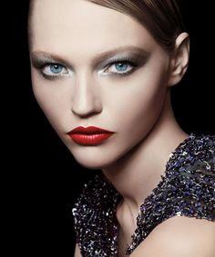Giorgio Armani Beauty / model: Sasha Pivovarowa #beauty #make-up #redlips #advertising