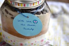 Double Chocolate Chip Cookies in a jar - the perfect holiday hostess gift