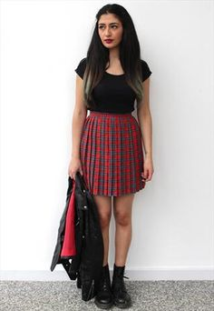 How to style tartan dress