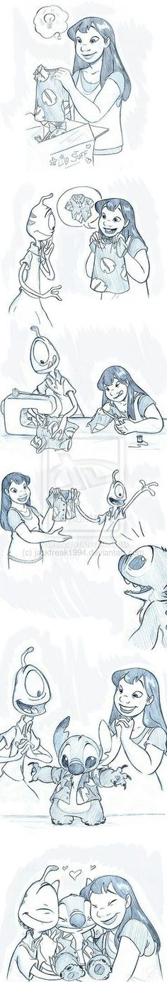 Disney lilo - Special Gift by on deviantART Walt Disney, Deco Disney, Cute Disney, Disney Magic, Disney Stitch, Lilo Et Stitch, Disney And Dreamworks, Disney Pixar, Disney Characters