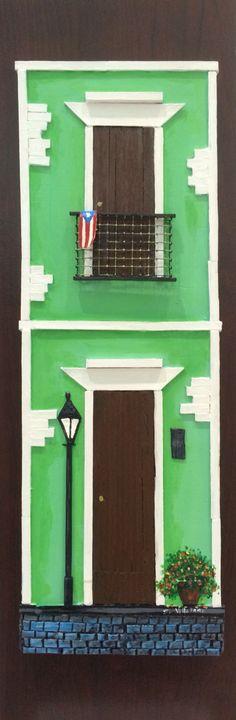 Artesanias de Puerto Rico casitas y balcones del viejo San Juan old San Juan art and crafts