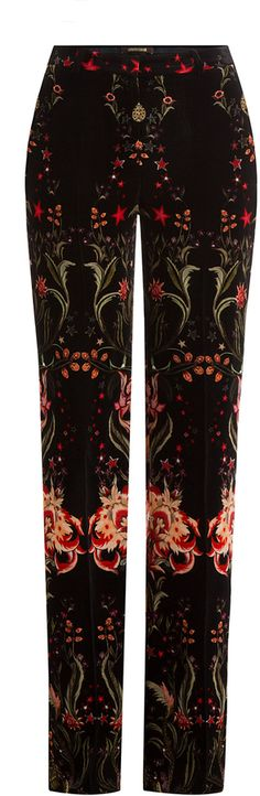Roberto Cavalli Printed Velvet Wide Leg Pants Roberto Cavalli, Wide Leg Pants, Girl Fashion, Pajama Pants, Velvet, Printed, Stylish, Girls, Tops