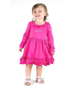 Hot Pink Personalized Dress - Infant Toddler & Girls