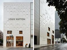 经典 Damier 上墙来,LOUIS VUITTON 银座门店外墙改造设计   理想生活实验室