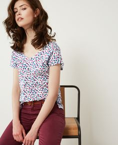 BUBBLEプリントTシャツ   コントワー・デ・コトニエ ファッション通販