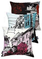 Vallila Bulevardi pillows teal and pink