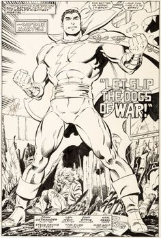 Original Comic Art:Splash Pages, John Byrne and Karl Kesel Legends #5 Splash Page 3 CaptainMarvel Original Art (DC, 1987)....