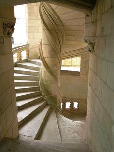 Escalier en hélice à Chambord