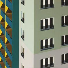 Architectural Paintings by Dutch artist Roos van Dijk