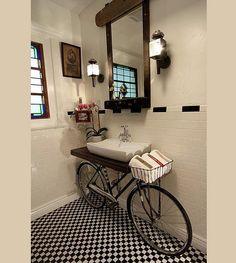 Kids bathroom - Bicycle washstand