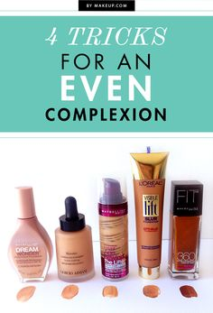 These 4 tips from a professional makeup artist will help you achieve a perfect, even complexion in no time flat! makeup augen hochzeit ideas tips makeup Eye Makeup, Makeup Tips, Makeup Tutorials, Makeup Ideas, Makeup Box, Makeup Hacks, Makeup Routine, All Things Beauty, Beauty Make Up