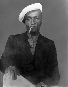 African American Portrait with Cigarette