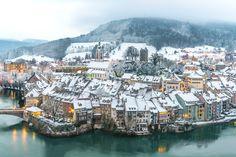 ***Laufenburg by Martin Schnetzler (Switzerland) City Architecture, Switzerland, Beautiful Places, Germany, Europe, Water, Photography, Outdoor, Destinations