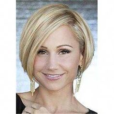 Bob Hairstyle Short Haircut Wig For Round Face Shape Hair Material: Synthetic Hair Length: 12 Inches Angled Bob Haircuts, Choppy Bob Hairstyles, Bob Hairstyles For Fine Hair, Hairstyle Short, Hairstyles 2016, Undercut Bob Haircut, Hairstyle Names, Black Hairstyles, Short Haircuts