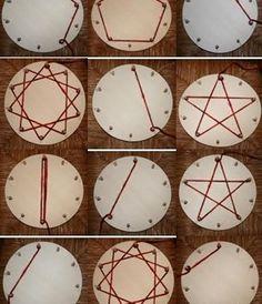 Montessori wheel or mandala of multiplication tables – Page 3 – Lapappadolce Math For Kids, Fun Math, Math Activities, Crafts For Kids, Kids Diy, Waldorf Math, Waldorf Crafts, Multiplication Wheel, Math Art