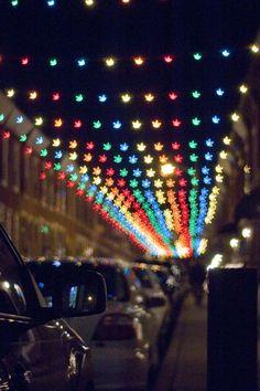 South Philly Christmas Lights, Custom Bokeh Testing
