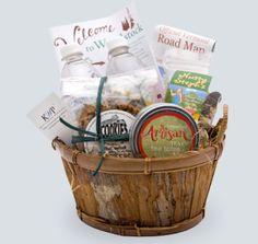 welcome baskets , like the road map idea!