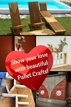 Skip the expensive baubles and give a gift from the heart: build your loved one a pallet project! Artwork, furniture, bars, & sheds, plus thousands of ideas to show them you love them! #palletlove #diypalletideas #palletfurniture #palletart via @1001Pallets