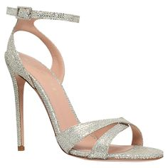 Buy Kurt Geiger Maia High Heel Occasion Sandals, Champagne, 2 Online at johnlewis.com