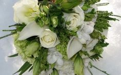 Preview wallpaper rose, calla lilies, flowers, bridal bouquet, beauty