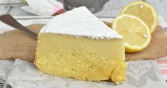 Magic Cake with Lemon and Ricotta Sweets Recipes, Cooking Recipes, Desserts, Pastry Art, Cake & Co, Creative Cakes, Desert Recipes, My Favorite Food, I Foods