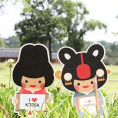 :: MIRACLE KOREA :: Simple & Modern Traditional Korea Souvenir Goods Too stinkin cute- like a Nintendo version of traditional Korean characters