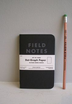 Field Notes Memo Books Pitch Black limited edition set of 3 - Housekeeping Store