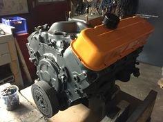 V8 for our Ford GT40 boat! Gulf Racing Theme! #fordgt40 #gulfracing #
