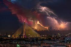 Thunderstorm Rama VIII bridge by Tinnapat Chaikoonsaeng on 500px