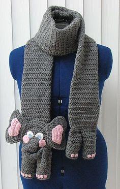 crochet elephant scarf #crafts #crochet pattern