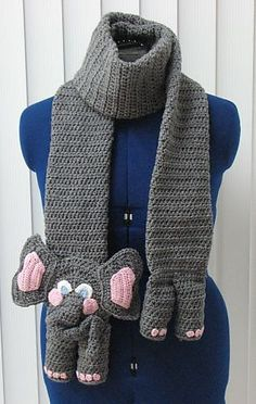 crochet elephant scarf #crafts #crochet pattern