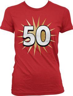 Happy 50th Birthday. The big 50 Fifty Years by TheTShirtShoppe
