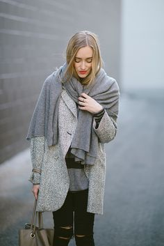 Eat Sleep Wear's Kim Pesch wrapped up in her Equipment Miranda Scarf