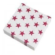 HYANNISPORT Red Star Paper Napkins (pack of 12)