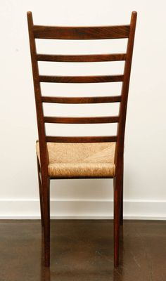 Pair Of Italian Ladder Back Chairs With Woven Seats | From A Unique  Collection Of
