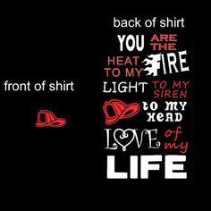 Cute Black firefighter wife/girlfriend shirt. by Niwid on Etsy, $15.00
