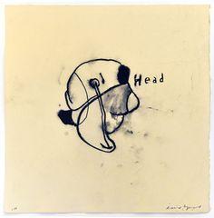 David Lynch: Head, 2010, crayon gras, lithographique sur papier