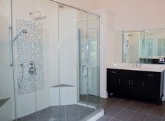 Bath Masters Naperville cowboy themed bathroom with under cabinet lighting in this former
