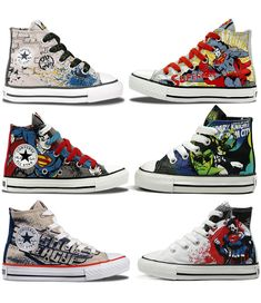 461bc6fc5d28 Converse DC Comics Kids  Hi-top sneakers- I know which one the Boy