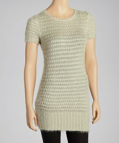 Take a look at this Sage Knit Ribbed-Trim Tunic Sweater by Simply Irresistible on #zulily today!