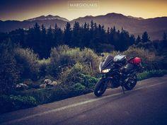 #sunset #tour #chania #crete #instachania #fazer #yamaha #fz6 #fz6s2 #motorcycle #ride #bike #riders #twowheels #motorcycles #motoride #dusk #landscape