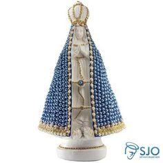 Nossa Senhora Aparecida Em Pérola Azul - 35 Cm