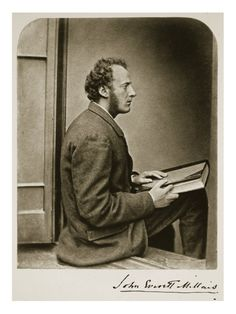 Dodgson - Millais in John Everett Millais, Daguerreotype, Lewis Carroll, Vintage Photography, Vintage Photos, Painting, December, France, Art